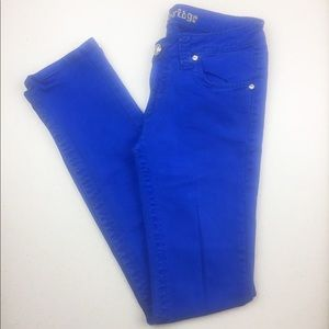 Arden B Cambridge Low Rise Skinny Jean Cobalt Blue